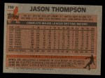 1983 Topps #730  Jason Thompson  Back Thumbnail