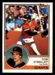 1983 Topps #663  Tom O'Malley  Front Thumbnail