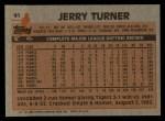1983 Topps #41  Jerry Turner  Back Thumbnail