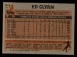 1983 Topps #614  Ed Glynn  Back Thumbnail