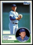 1983 Topps #583  Terry Forster  Front Thumbnail