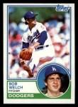 1983 Topps #454  Bob Welch  Front Thumbnail