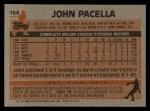 1983 Topps #166  John Pacella  Back Thumbnail