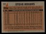 1983 Topps #320  Steve Rogers  Back Thumbnail