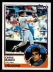 1983 Topps #227  Chris Bando  Front Thumbnail
