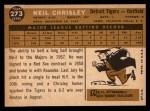 1960 Topps #273  Neil Chrisley  Back Thumbnail