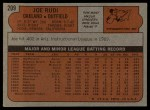 1972 Topps #209  Joe Rudi  Back Thumbnail
