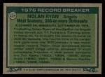 1977 Topps #234   -  Nolan Ryan Record Breaker Back Thumbnail