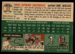 1954 Topps #22 WHT Jim Greengrass  Back Thumbnail