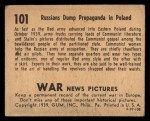 1939 Gum Inc. War News Pictures #101   Russians Dump Propaganda In Poland Back Thumbnail