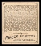 1910 T218 Champions #81  Calvin Demarest  Back Thumbnail