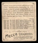 1910 T218 Champions #146  Mike Sullivan  Back Thumbnail