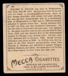 1910 T218 Champions #85  Jerome Keogh  Back Thumbnail