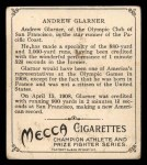 1910 T218 Champions #18  Andrew Glarner  Back Thumbnail