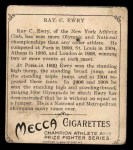 1910 T218 Champions #11  Ray Ewry  Back Thumbnail