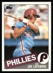 1985 Topps #531  Joe LeFebvre  Front Thumbnail