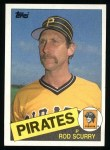 1985 Topps #641  Rod Scurry  Front Thumbnail