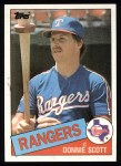1985 Topps #496  Donnie Scott  Front Thumbnail