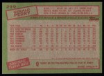 1985 Topps #219  Gerald Perry  Back Thumbnail