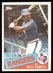1985 Topps #337  Billy Sample  Front Thumbnail