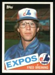 1985 Topps #36  Fred Breining  Front Thumbnail