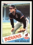 1985 Topps #93  Don Schulze  Front Thumbnail