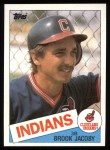 1985 Topps #327  Brook Jacoby  Front Thumbnail