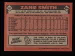 1986 Topps #167  Zane Smith  Back Thumbnail