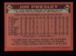 1986 Topps #598  Jim Presley  Back Thumbnail
