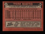 1986 Topps #88  Tom Nieto  Back Thumbnail