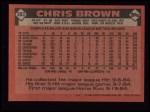 1986 Topps #383  Chris Brown  Back Thumbnail