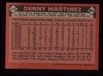 1986 Topps #416  Dennis Martinez  Back Thumbnail