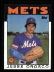 1986 Topps #465  Jesse Orosco  Front Thumbnail