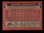 1986 Topps #465  Jesse Orosco  Back Thumbnail
