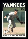 1986 Topps #327  Mike Pagliarulo  Front Thumbnail