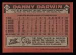 1986 Topps #519  Danny Darwin  Back Thumbnail