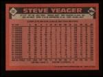 1986 Topps #32  Steve Yeager  Back Thumbnail