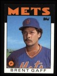1986 Topps #18  Brent Gaff  Front Thumbnail