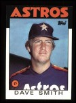 1986 Topps #408  Dave Smith  Front Thumbnail
