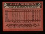 1986 Topps #444  Alex Trevino  Back Thumbnail