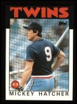 1986 Topps #356  Mickey Hatcher  Front Thumbnail