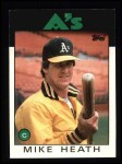1986 Topps #148  Mike Heath  Front Thumbnail
