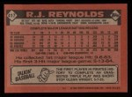 1986 Topps #417  R.J. Reynolds  Back Thumbnail