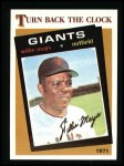 1986 Topps #403   -  Willie Mays TBC Turn Back The Clock Front Thumbnail