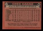 1986 Topps #162  Greg Gagne  Back Thumbnail