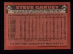 1986 Topps #660  Steve Garvey  Back Thumbnail