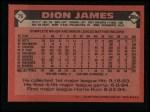 1986 Topps #76  Dion James  Back Thumbnail