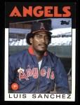 1986 Topps #124  Luis Sanchez  Front Thumbnail