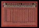 1986 Topps #515  Darrell Evans  Back Thumbnail