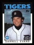 1986 Topps #515  Darrell Evans  Front Thumbnail
